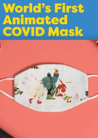 World's First Animated COVID Mask